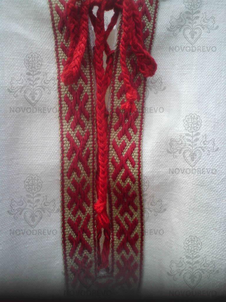 ruská košeľa s tkanicami